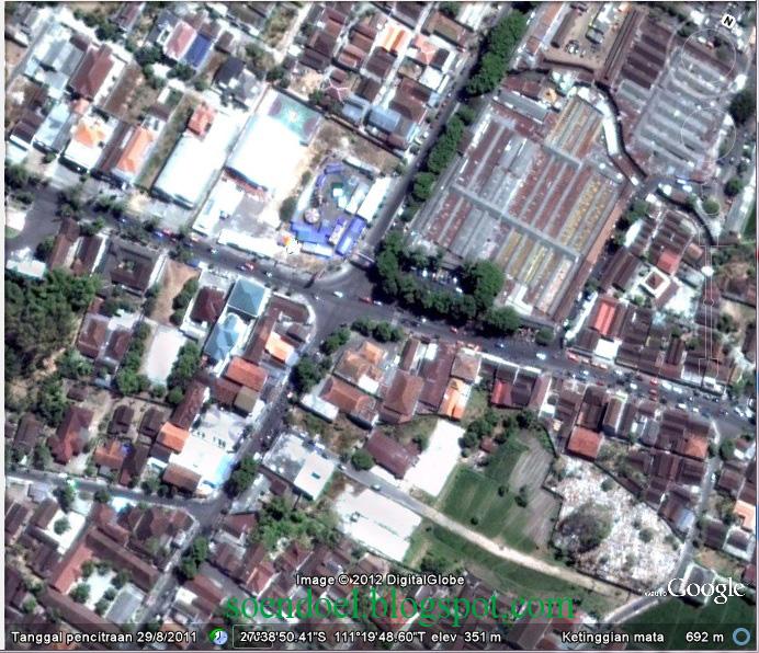 Soendoel Blog Wajah Kota Magetan Ketinggian Gambar Atas Daerah Perempatan