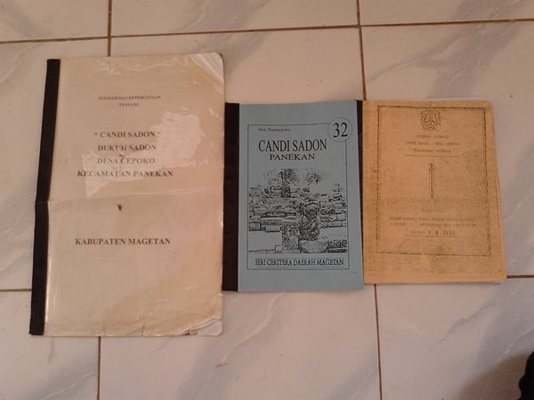 Dahaga Membiru Muda Makalah Antropologi Sejarah Candi Sadon Buku Kab
