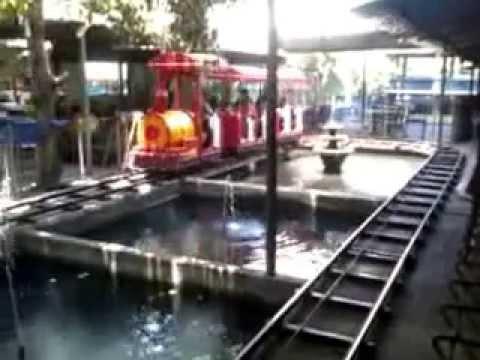Intip Aura Naik Kereta Mini Wisata Kolam Renang Banyu Biru