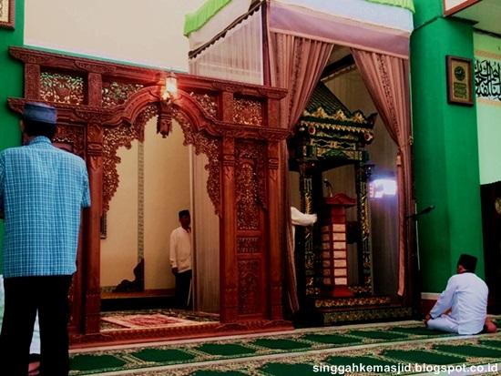 Masjid Agung Baitussalam Nganjuk Info Menarik Sedulur Klaten Mihrab Mimbar