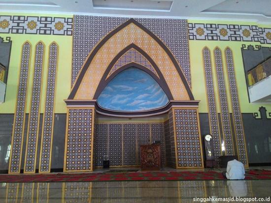 Singgah Masjid Agung Baitussalam Kabupaten Magetan Mihrab Mimbar Kab