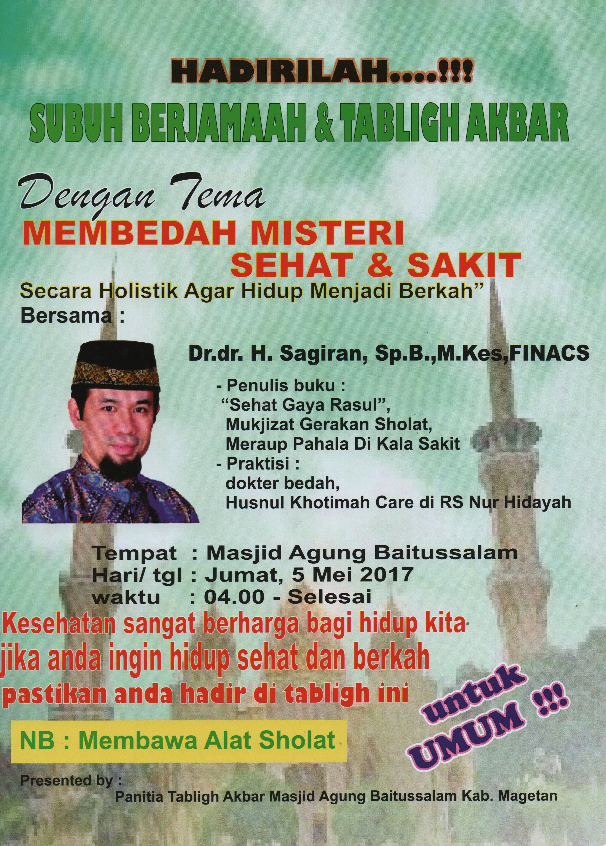 Subuh Berjamaah Tabligh Akbar Drupal Jpg Masjid Agung Baitussalam Kab