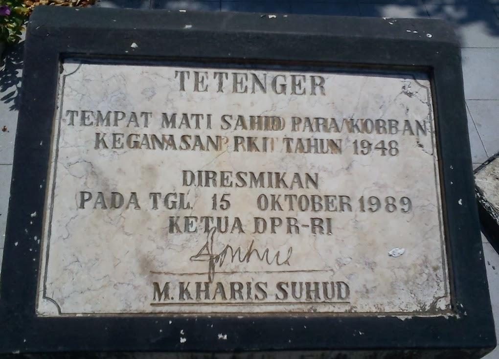 Monumen Soco Madiun Pemberontakan Pki 1948 Punya Cerita Nah Samping