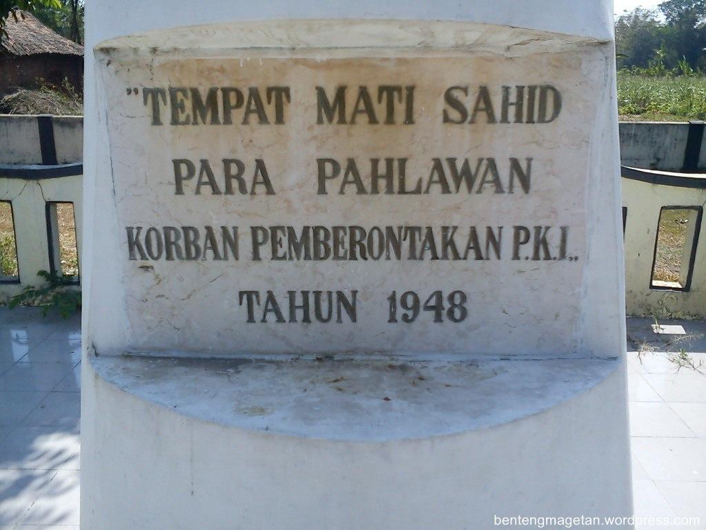 Monumen Soco Pitrilaskartekaje Salah Satu Tempat Pembuangan Korban Keganasan Pki