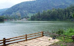 Glance Sarangan Lake Beautiful Magetan Tourism Object Telaga Pasir Salah