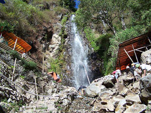 Tirtosari Waterfall Magetan East Java Enjoy Beauty Natural Air Terjun