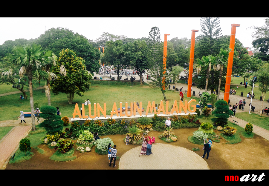 Alun Kota Malang Taman Semuanya Nnoart Koleksi Foto Tugu Balai