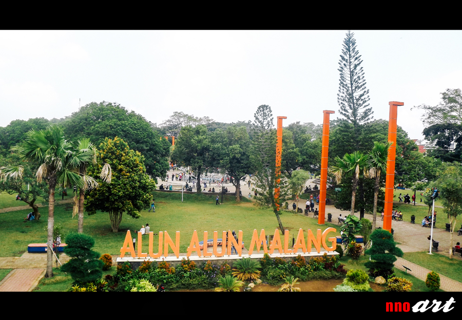 Alun Kota Malang Taman Semuanya Nnoart Tugu Balai Kab