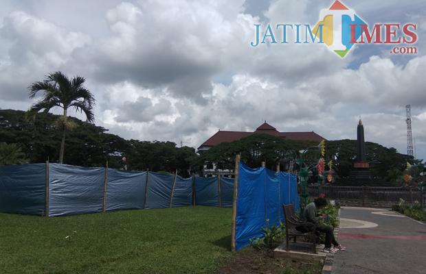 Pemerintahan Taman Alun Tugu Ditutup Sebagian Bagian Utara Kota Malang