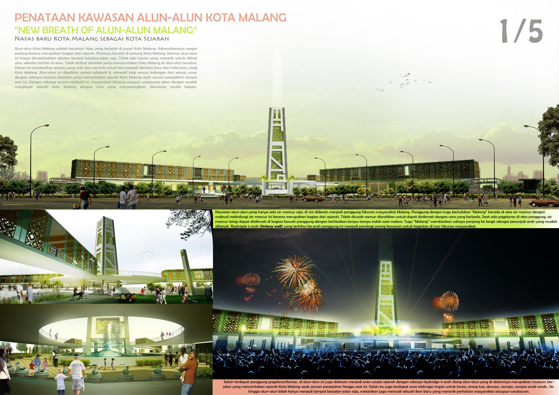 Penataan Kawasan Alun Kota Malang Architecturediary Terdapat Panggung Pagelaran Konser