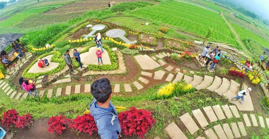 Lokasi Rute Desa Wisata Pujon Kidul Malang Cafe Sawah Kab