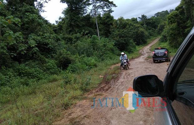 Bak Jalur Road Wisatawan Akses Pantai Kondang Merak Kondisi Jalan