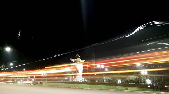 Monumen Melati Jalan Ijen Boulevard Malang Kipa Ilakes Malam Hari