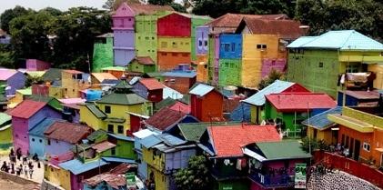 Kampung Warna Warni Jodipan Malang Wongcrewchild Kab