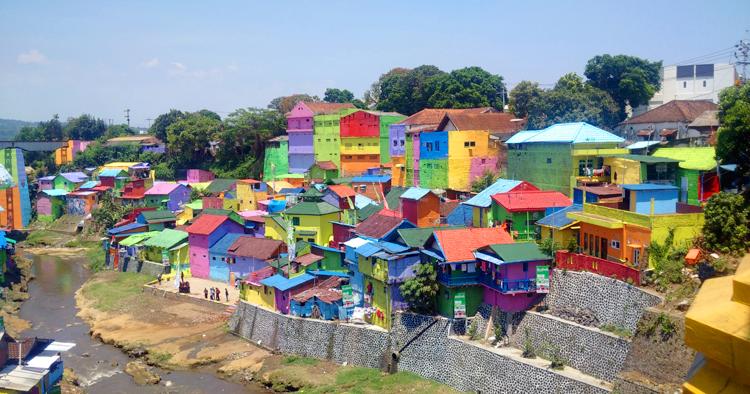 Kampung Warna Warni Kota Malang Indonesian Heritage Jodipan Kab