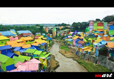 Kampung Warna Warni Tempat Wisata Populer Malang Jodipan Kab