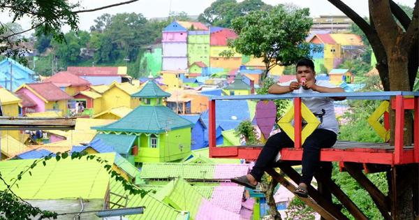 Lokasi Rute Menuju Wisata Kampung Warna Warni Jodipan Malang Instagram