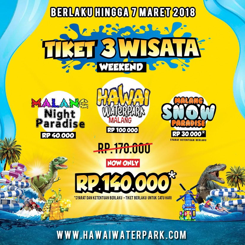 Hawai Waterpark Malang Night Paradise Kab