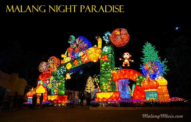 Menikmati Gemerlap Lampu Malang Night Paradise Mbois Pintu Masuk Menuju