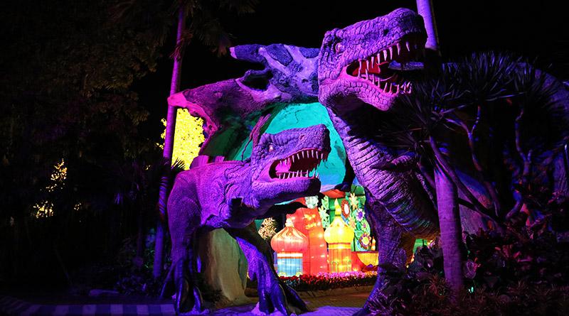 Miniatur Jurrasic Park Malang Night Paradise Fotoable Arif Pintu Masuk