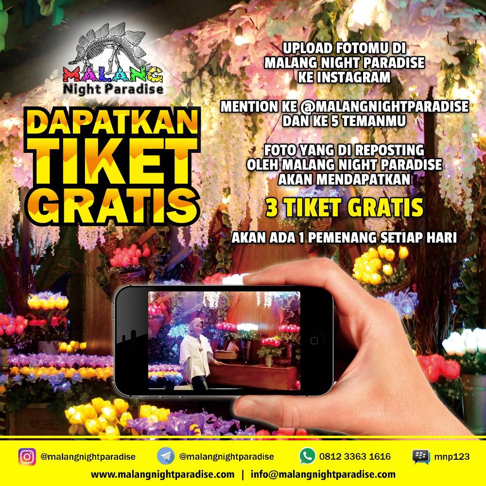 Tiket Gratis Malang Night Paradise Halomalang Dapatkan 3 Setiap Harinya