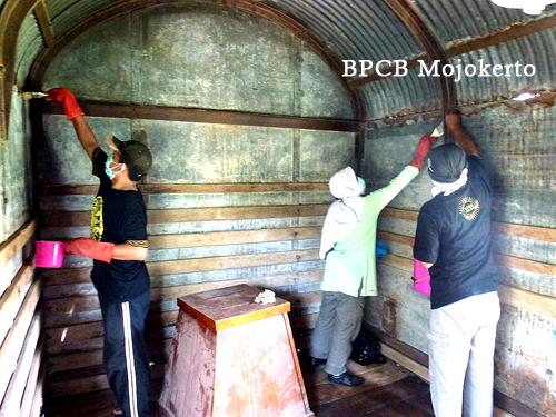 Konservasi Gerbong Koleksi Museum Brawijaya Kota Malang Kab
