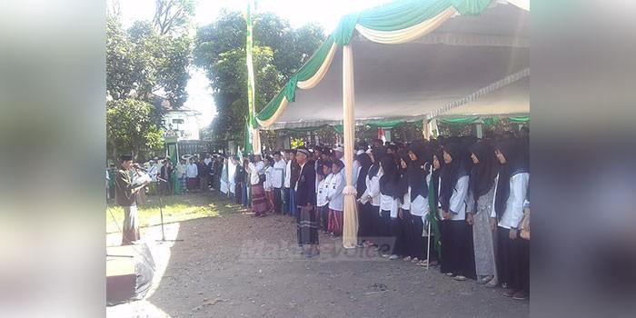 Ribuan Santri Tumplek Blek Museum Brawijaya Malangvoice Suasana Apel Peringatan