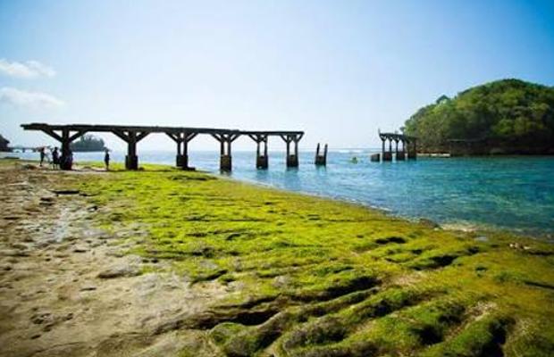 Peristiwa Pantai Balekambang Makin Eksotik Jembatan Anoman Pulau Proses Pembangunan