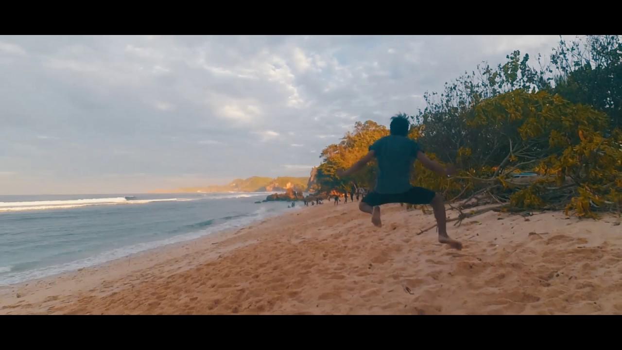 Cinecharm Camping Pantai Batu Bekung Kab Malang Youtube