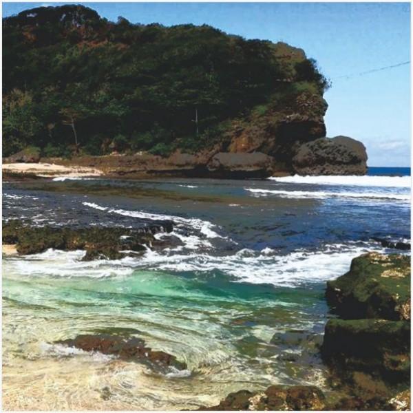 Pantai Balekambang Kabupaten Malang Batu Bengkung Bagian Selatan Terkenal Ombak