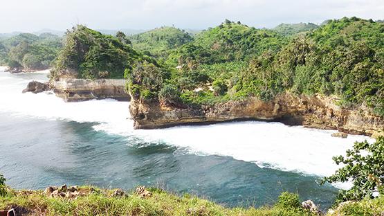 Pesona Pantai Batu Bekung Indah Malang Selatan Wisata Kab