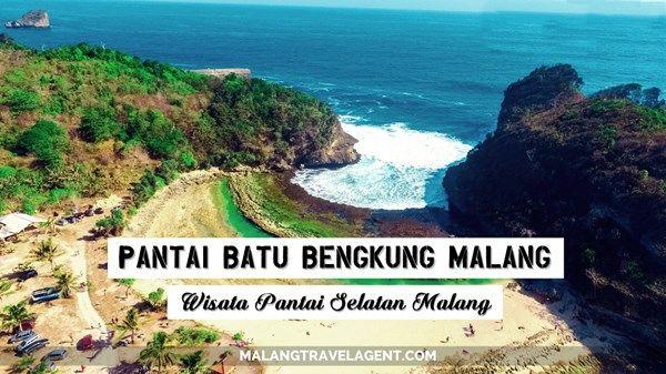 Uniknya Kolam Alami Wisata Pantai Batu Bengkung Malang Bekung Kab