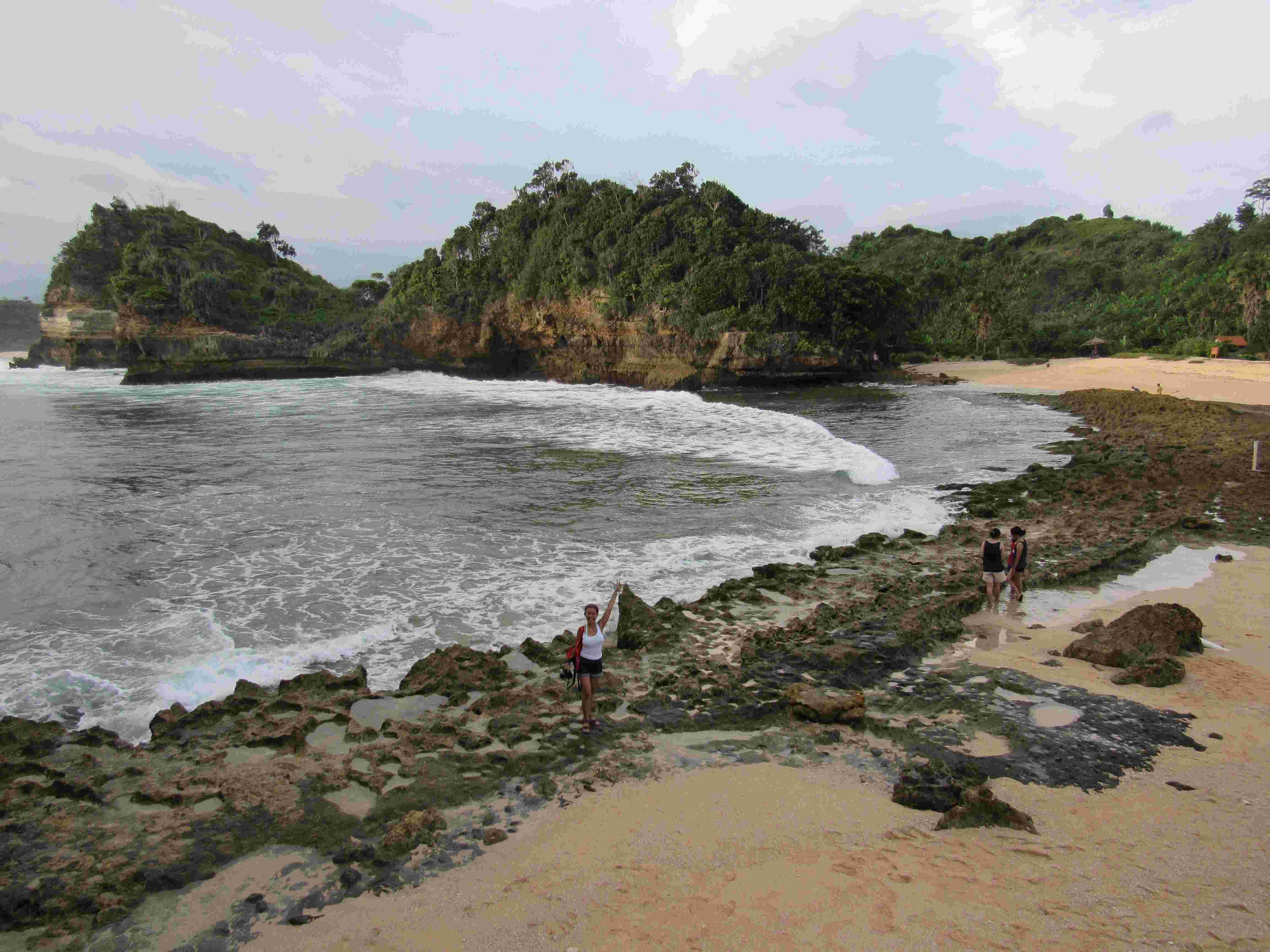 Wisata Pantai Batu Bengkung Malang Eksotis Selatan 1 Bekung Kab