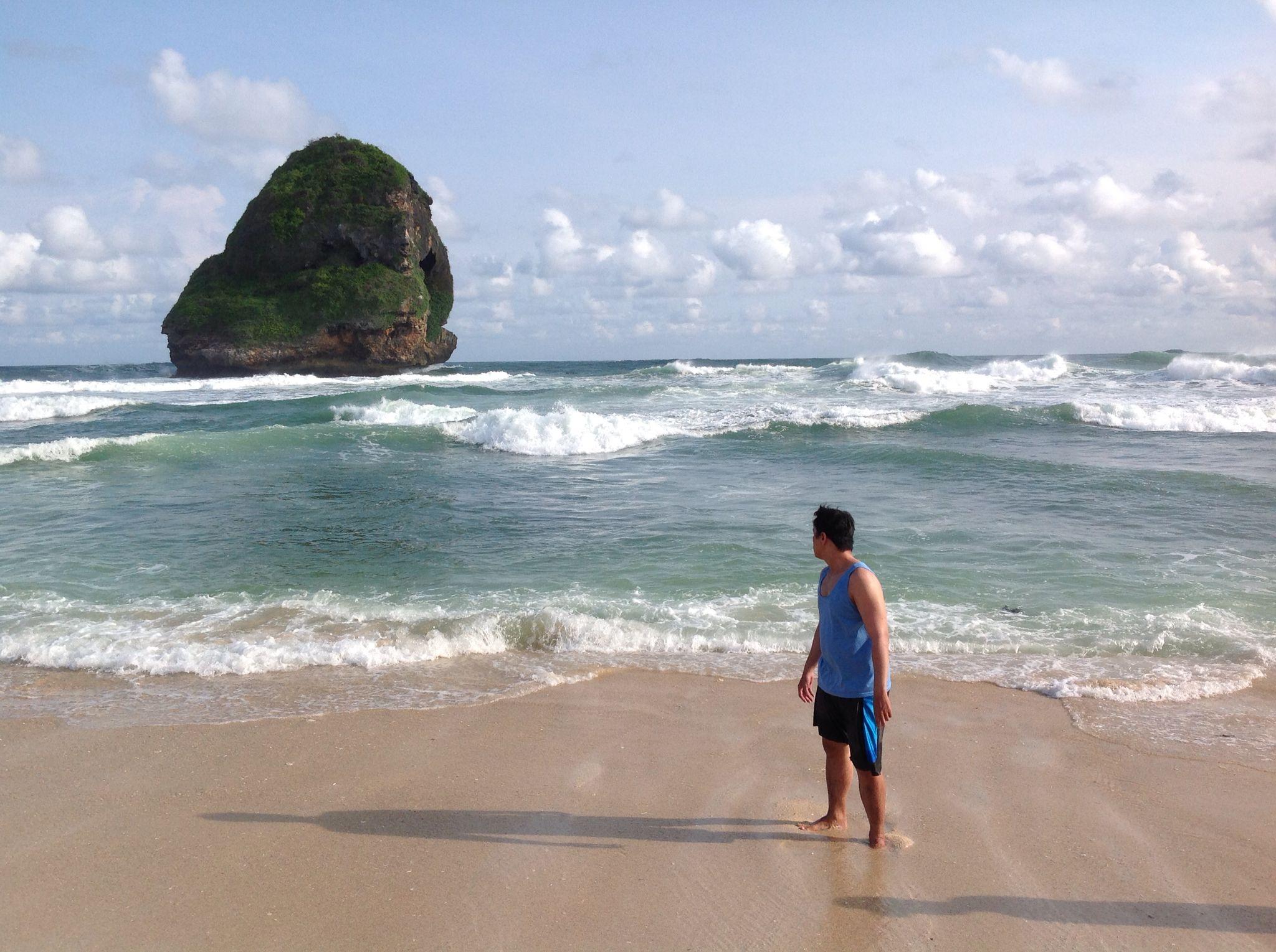 Called Rock Chinese Cave Beach Pantai Goa Cina Malang Kab