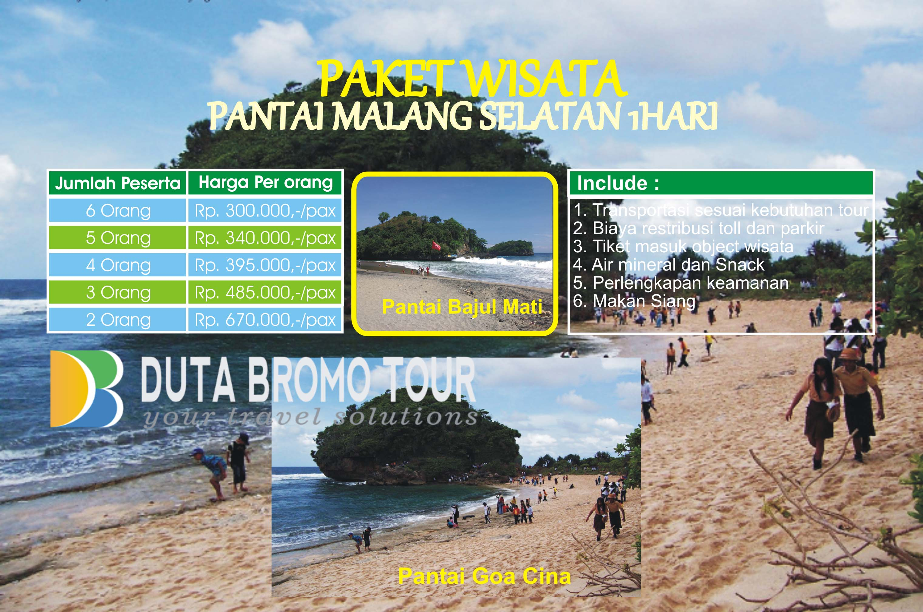 Duta Bromo Tour Paket Wisata Pantai Malang Selatan 1 Hari