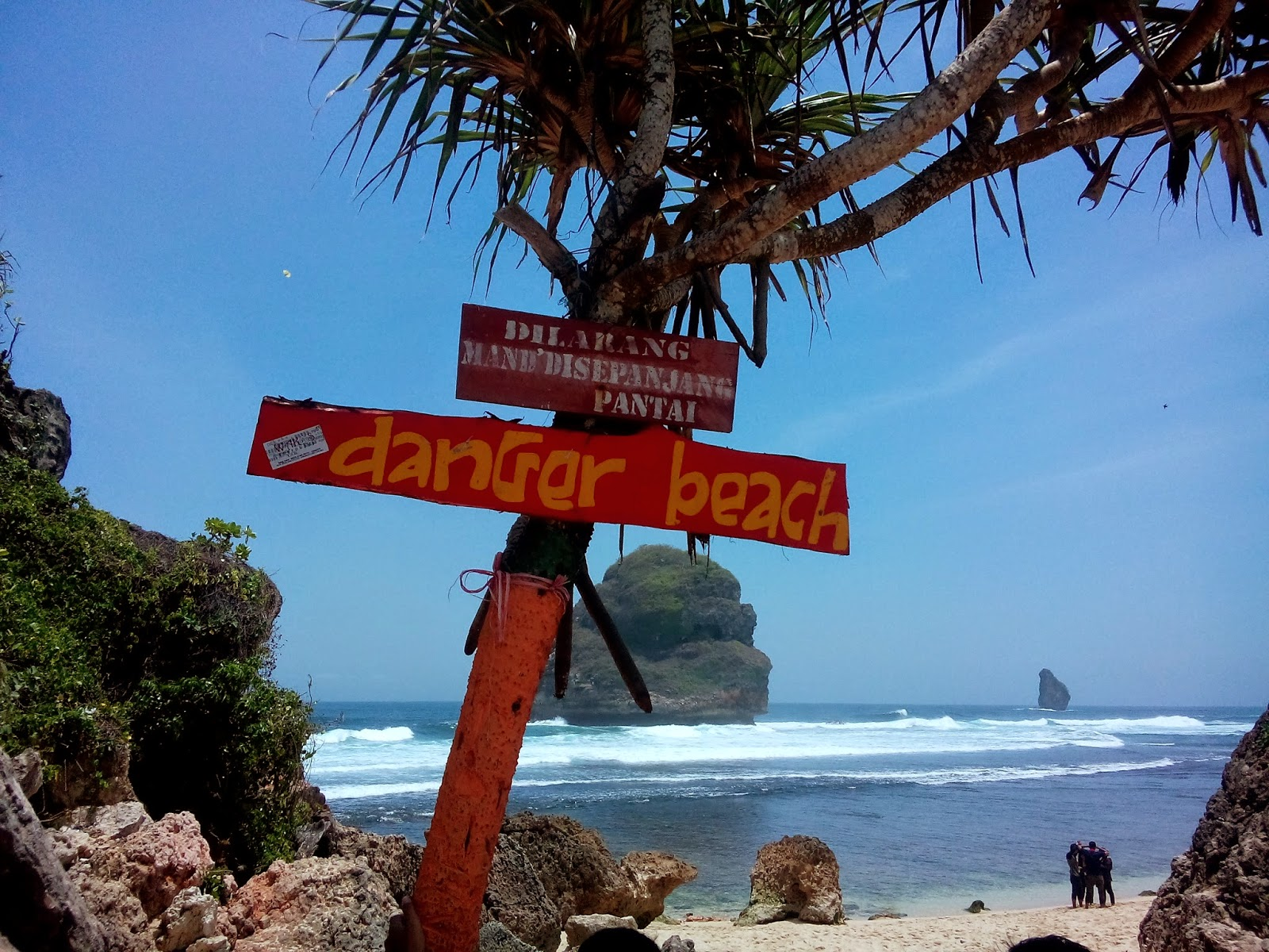 Eksotisme Pantai Goa China Wisata Jatim Malang Caution Cina Kab