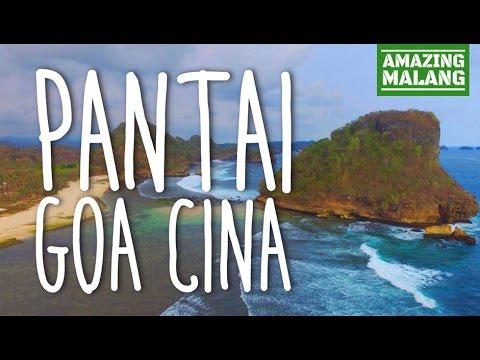 Goa Cina Beach Malang East Java Indonesia Wisata Pantai Watu