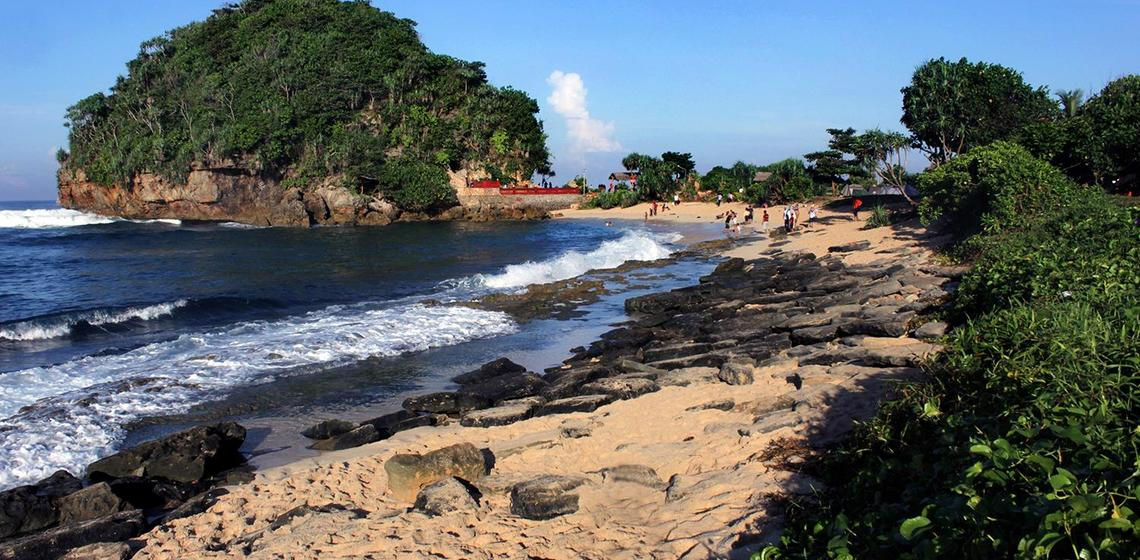 Pesona Sunrise Indah Pantai Goa Cina Malang Ulinulin Antara Gulungan