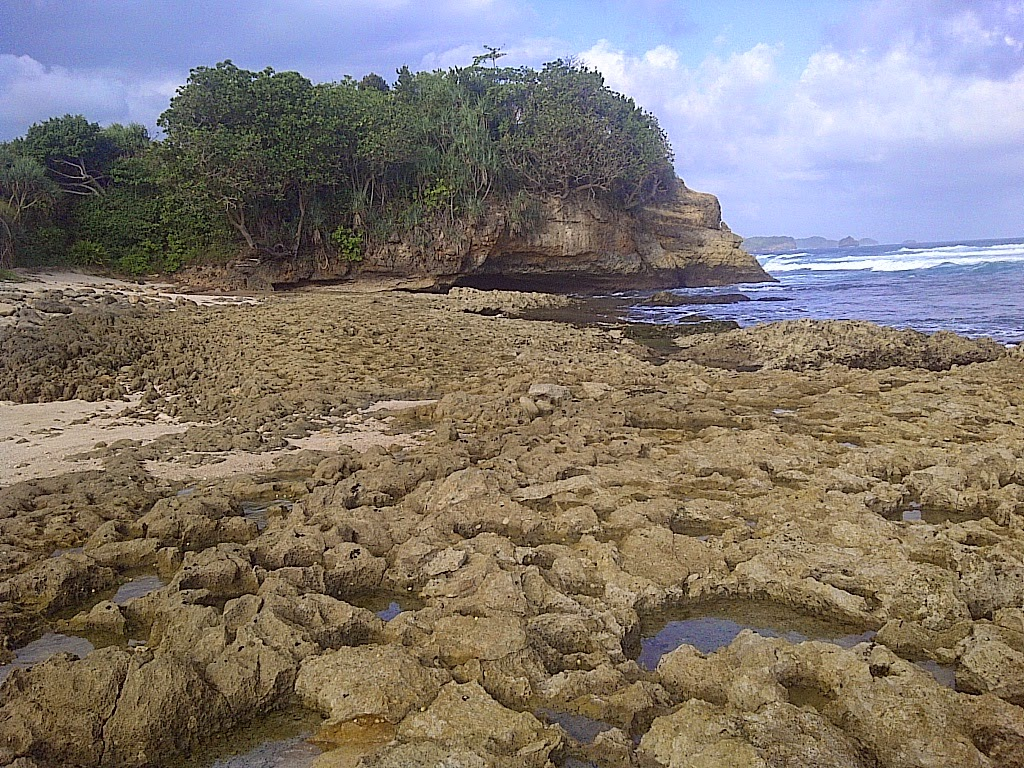 Pantai Jonggring Saloko Fenomena Alam Unik Malang Jawa Timur Kab