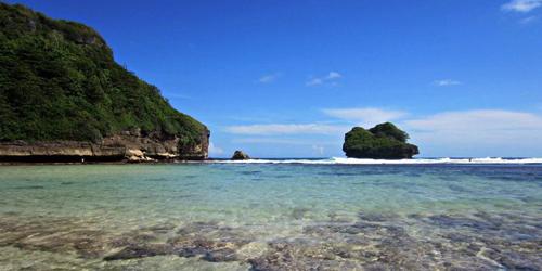 Pantai Ngliyep 98 Indah Wilayah Malang Jonggring Saloko Kab
