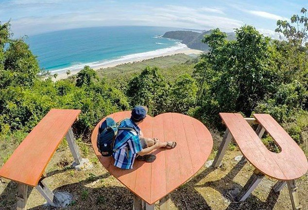 Lokasi Rute Pantai Modangan Malang Spot Selfie Love Kab