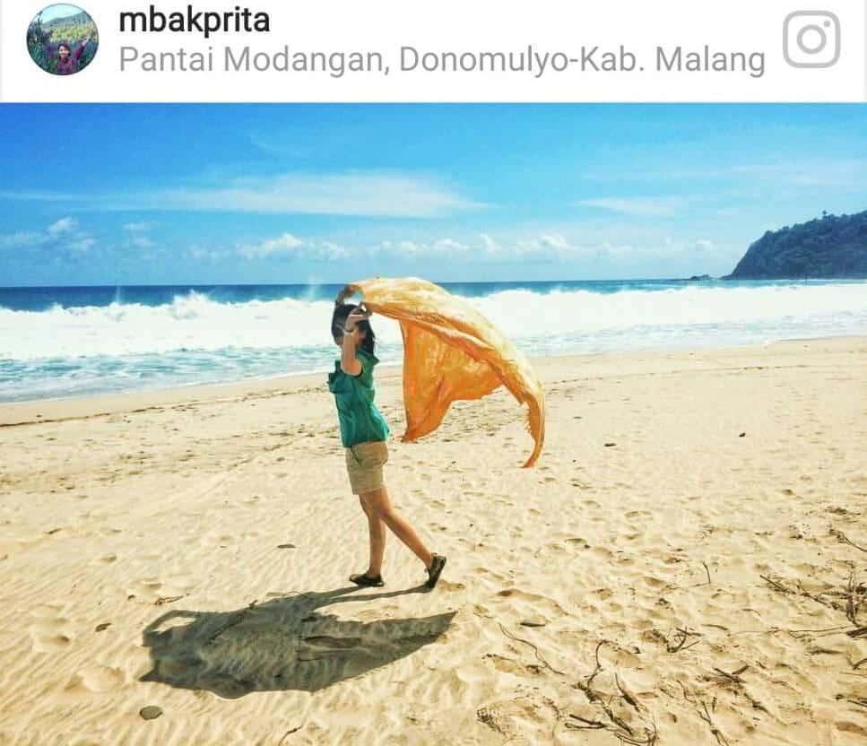 Paralayang Wisata Anyar Pantai Modangan Malang Lingkar Kab