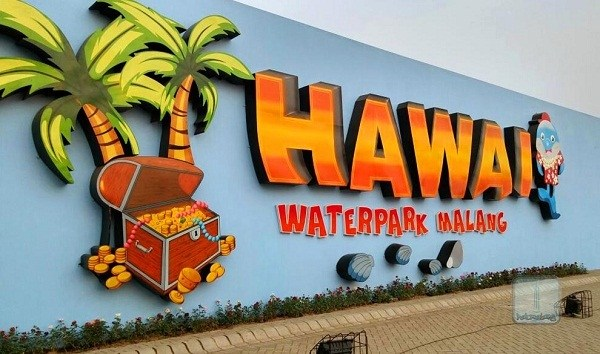 Hawai Waterpark Malang Wahana Air Punya Gelombang Tsunami Taman Kab
