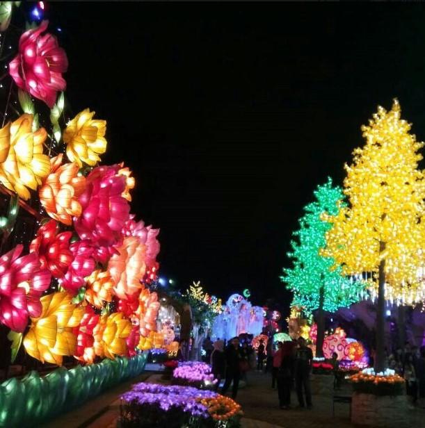 Malang Night Paradise Wisata Hits Terbaru Bernuansa Romantis Suasana Taman