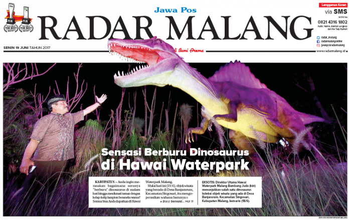 Rasakan Sensasi Berburu Dinosaurus Malam Hari Radar Malang Online Kbaupetan