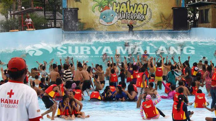 Selama Libur Lebaran Ribuan Wistawan Kunjungi Wisata Air Malang Taman
