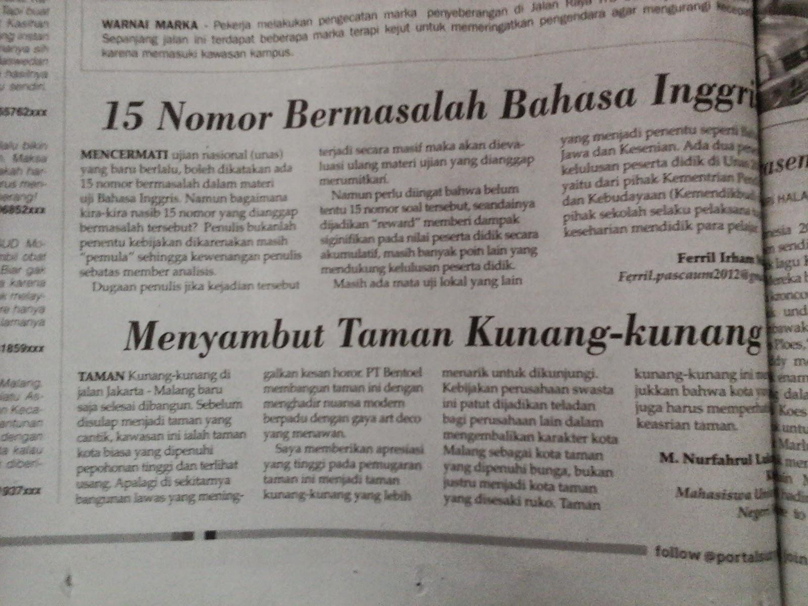 Fahrul Khakim April 2015 Menyambut Taman Kunang Kab Malang