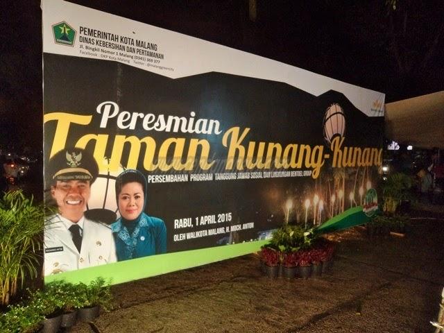 Taman Kunang Hiasi Kota Malang Cendana News Bertepatan Hut 101