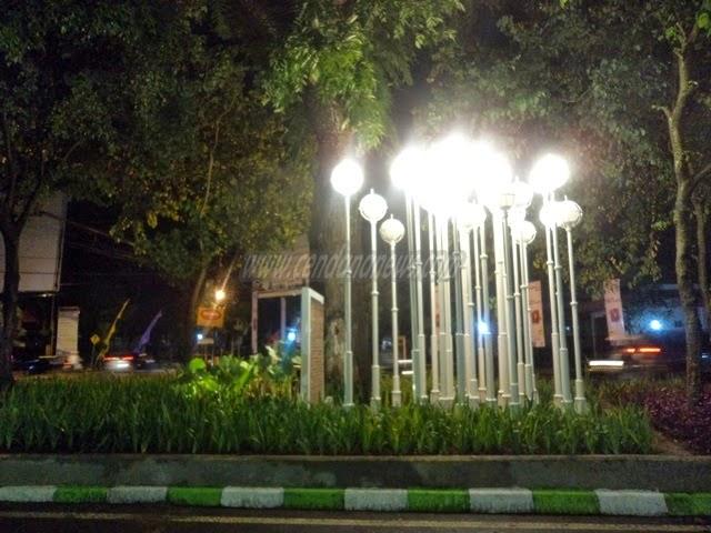 Taman Kunang Hiasi Kota Malang Cendana News Setelah Peresmian Selesai