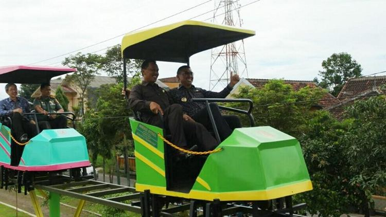 Diresmikan Sepeda Udara Lengkapi Fasilitas Taman Singha Merjosari Wali Kota